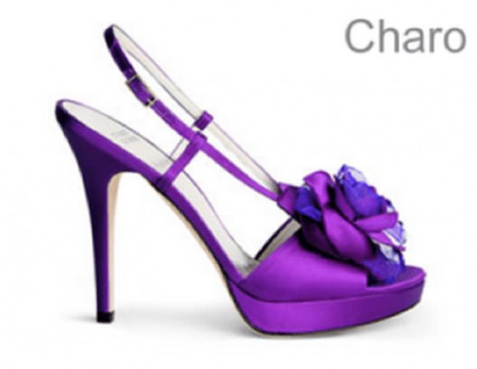 Scarpe da sposa viola by Charo