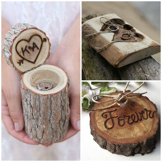 Coussins d'alliance en bois, Pinterest