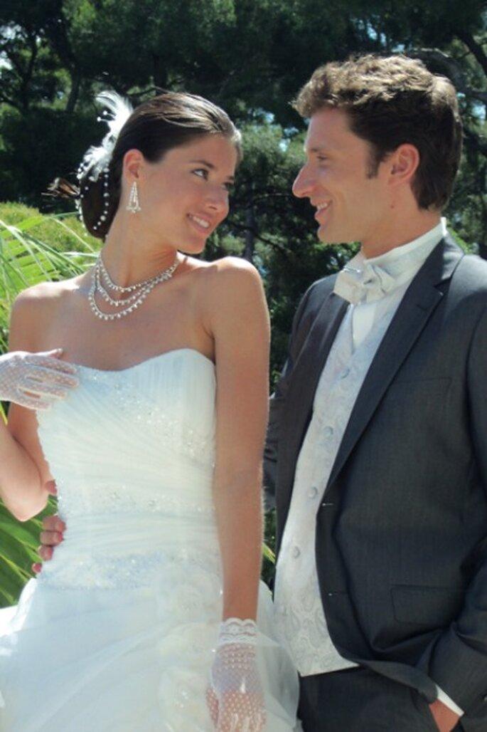 Robe blanche bustier - Tati 2012