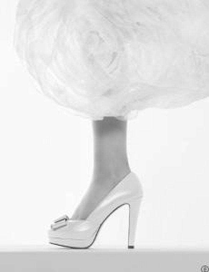 Rosa Clará 2010 - Chaussure haute avec plateforme et lacets décoratifs