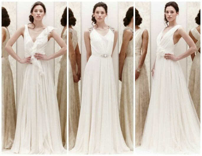 Romantica,eterea e sensuale la sposa di Jenny Packham nella sua Spring Collection 2013 Foto New York Bridal Week