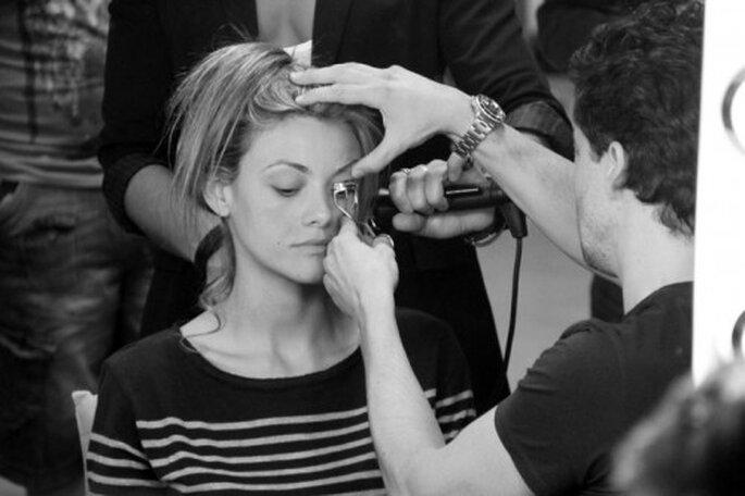 Las pestañas son muy importantes en el maquillaje de una novia. Foto: Mario Sierra