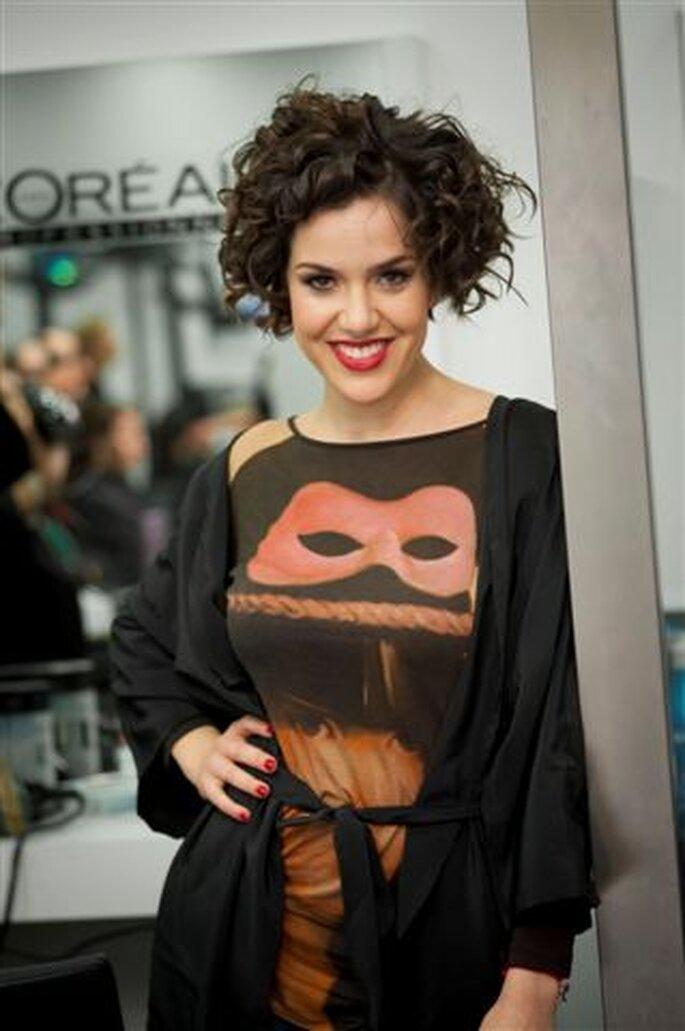 Roco llevaba para la gala de los Goya 2013 un peinado muy natural. Foto: Luis&Tacci