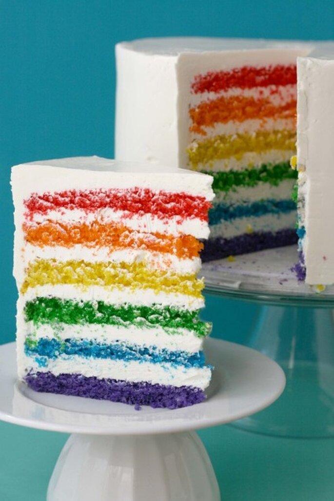 Gâteau arc-en-ciel - Source Whisk Kid