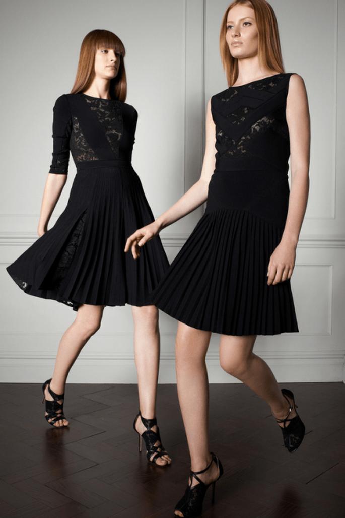 Vestido de fiesta en color negro con faldas amplias - Foto Elie Saab