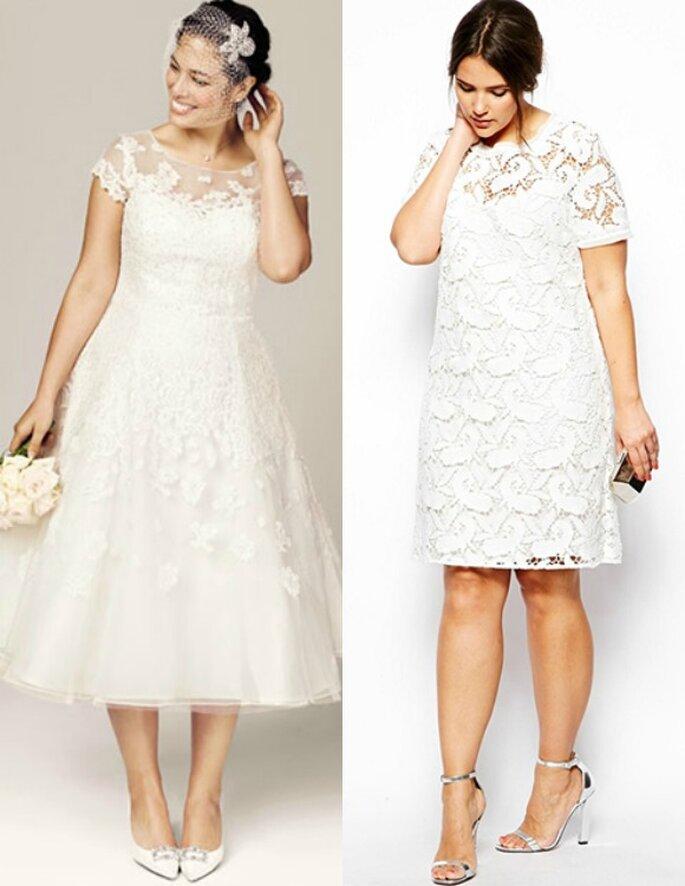 Increíbles vestidos de novia para chicas plus size - Foto David's Bridal y Asos