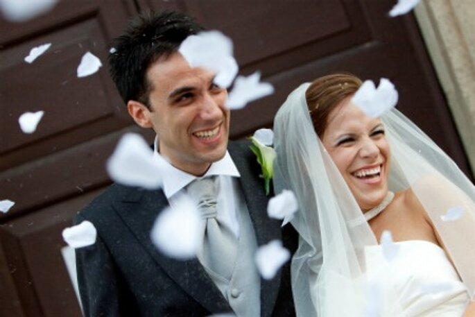 Gli sposi nel giorno del loro sì, il 16 settembre 2011. Foto di Francesca Pisoni