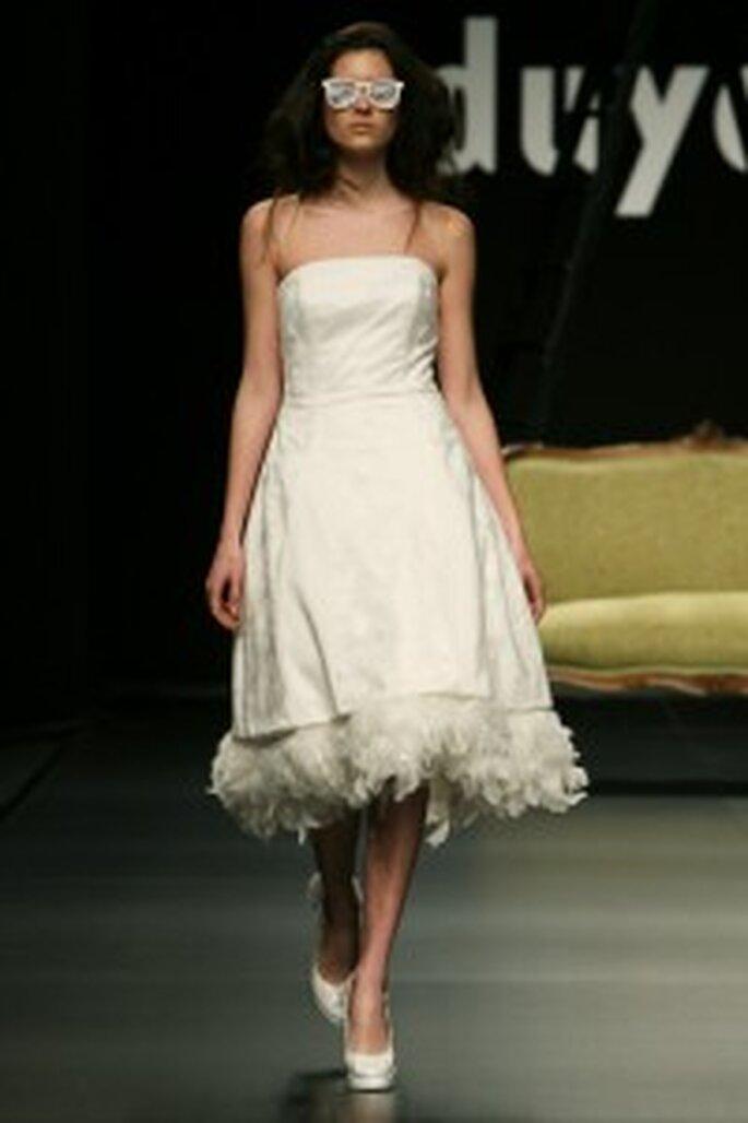 Robe de mariée Juan Duyos 2009 longueur genoux