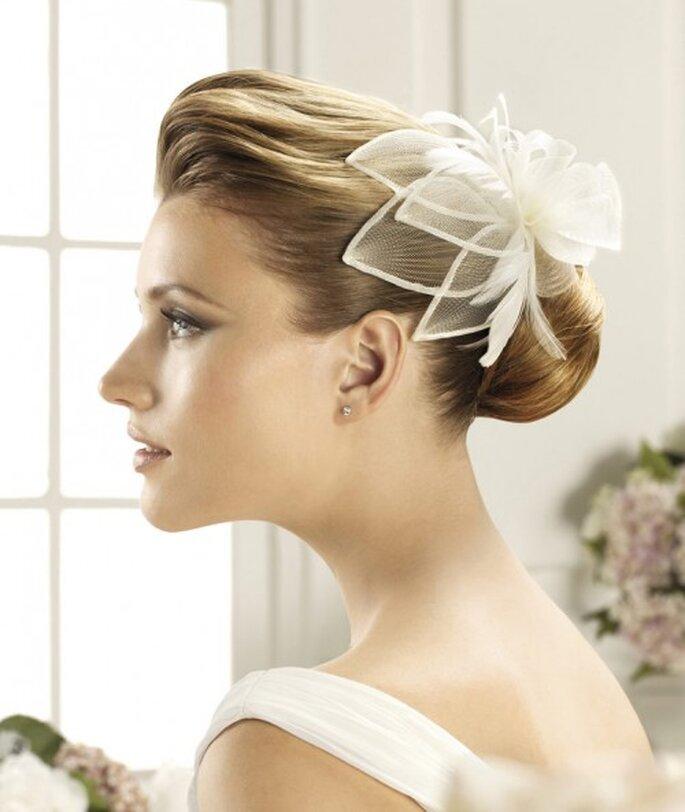 Elegantes tocados para peinado de novia foro moda for Tocados elegantes para bodas