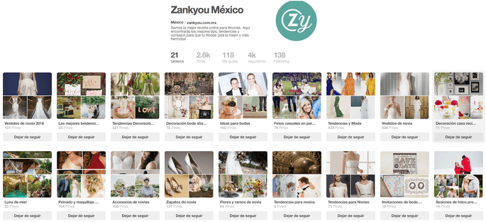 Pinterest Zankyou México