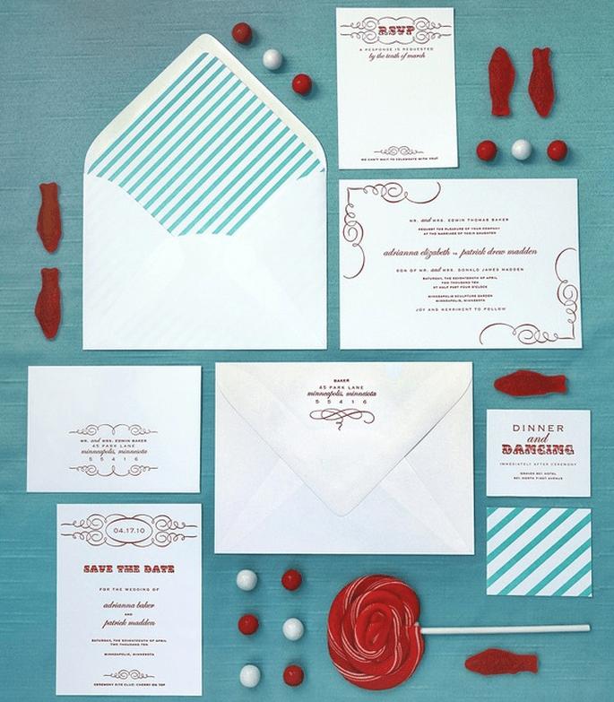 Un kit di inviti semplice ma d'effetto