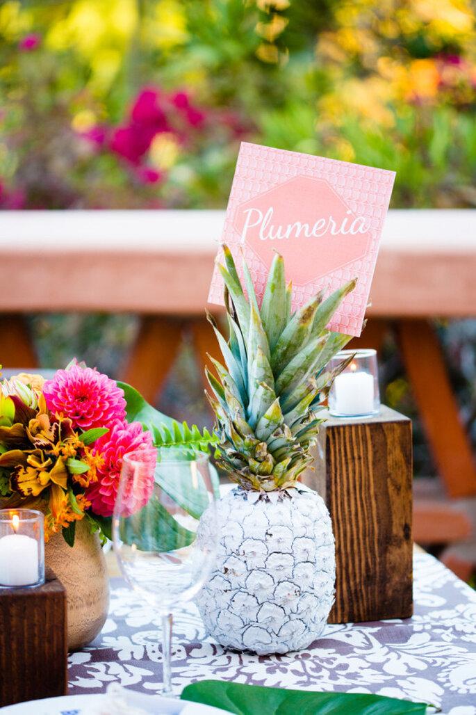 Piñas en la decoración de tu boda - Acqua Photo