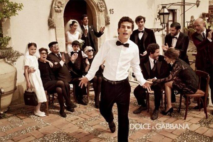 Cómo elegir el mejor traje de novio - Foto Dolce and Gabbana Facebook