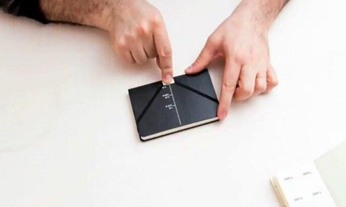 Il quaderno si converte in un romantico produttore di messaggi. Foto: Moleskine