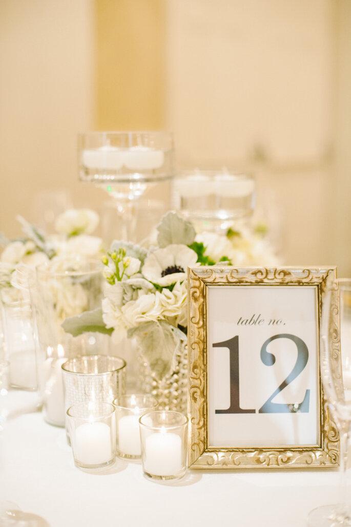 Numeración de mesas - Candice Benjamin Photography