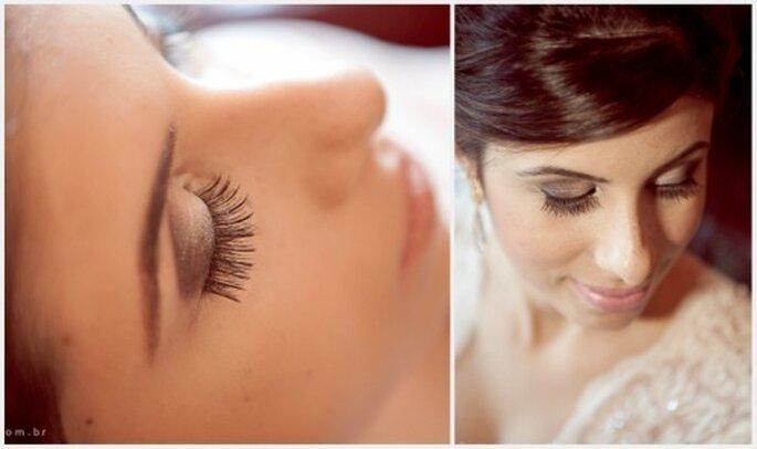 Los ojos son el centro del rostro, así que no olvides definir tus cejas para la boda. Flavia Soares