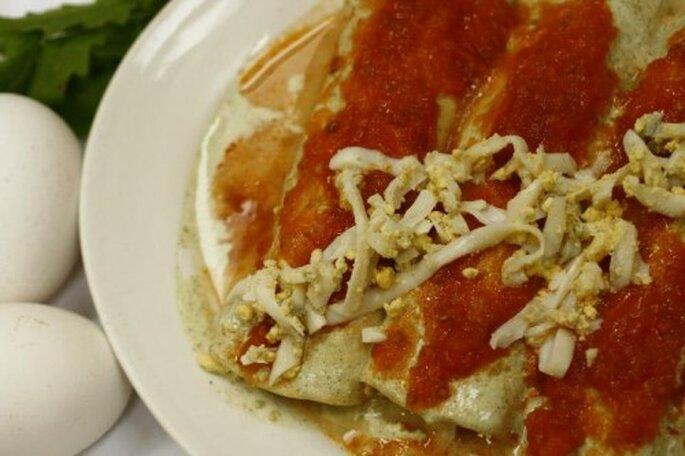 Papadzules, platillo tradicional y delicioso de la comida yucateca - Foto Restaurante Los Almendros (Mérida, Yucatán)