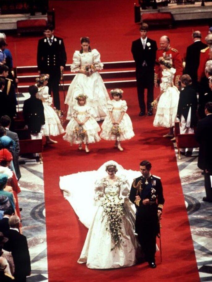 Lady Diana und ihre Brautjungfern an ihrem Hochzeitstag