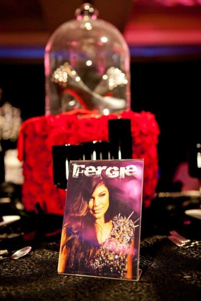 Mesa de boda decorada al estilo de Fergie - Foto: Floramor Studios Facebook