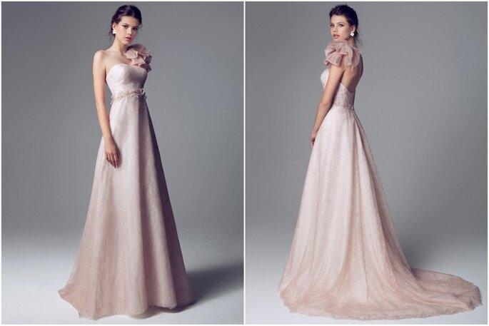 Vestido de novia rosa pálido de Blumarine 2014. Fotos: www.blumarine.com