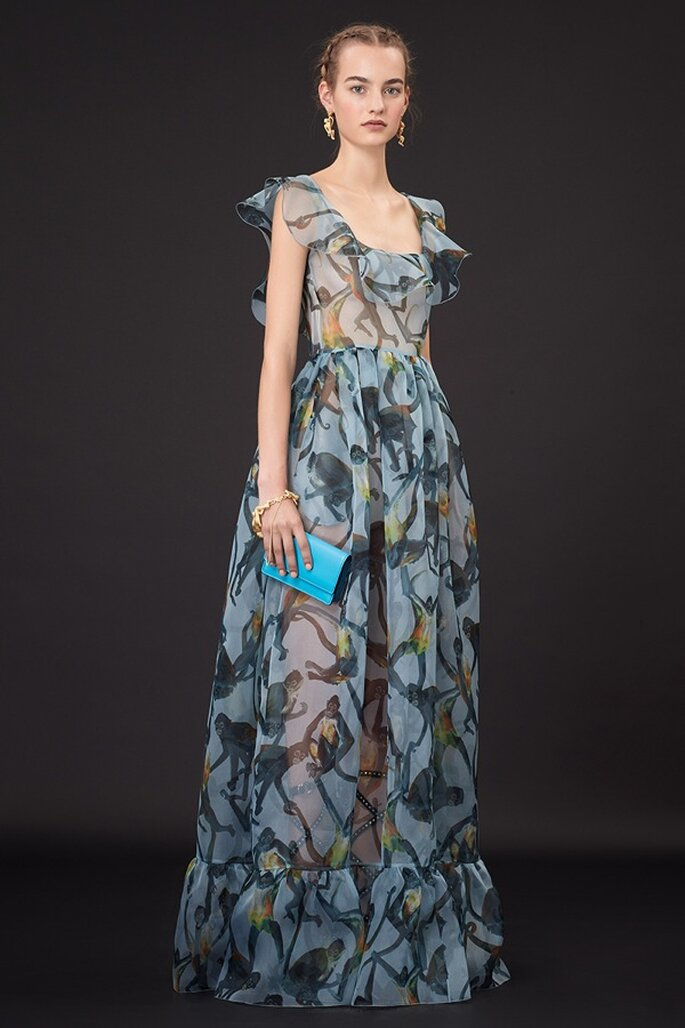 Vestidos de fiesta 2015 inspirados en la brillante estética de Frida Kahlo - Foto Valentino