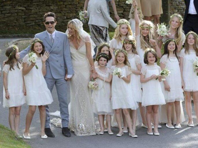 Estilo de boda de Kate Moss. Foto Terra.com.mx