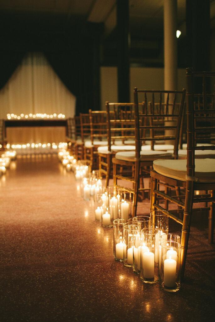 8 maneras creativas de decorar el pasillo de la ceremonia de boda. Foto-