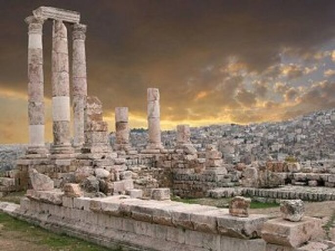 La ciudad de Petra en Jordania