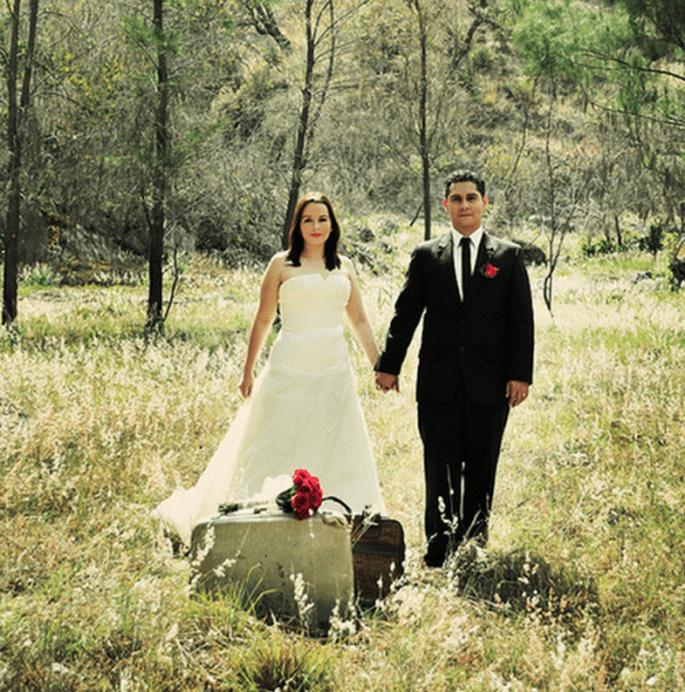 Escenarios naturales para la sesión de fotos Trash the Dress de Angie y Rodrigo - Foto Casa Fragma