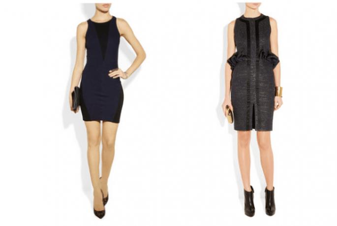 Acompaña tu vestido negro con unos accesorios en colores neutros para una boda civil - Foto Net a Porter