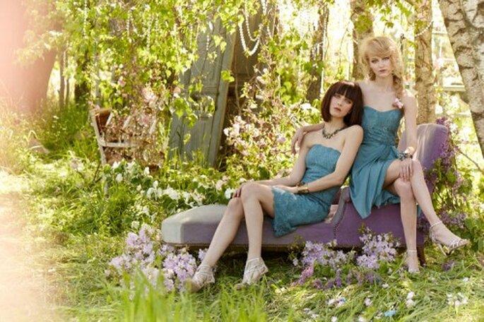 Vestidos de fiesta para damas de boda en azul cobalto - Foto Occasions en JLM Couture