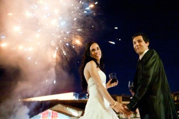 Gran fin de boda con fuegos artificiales- Foto: Víctor Laxe