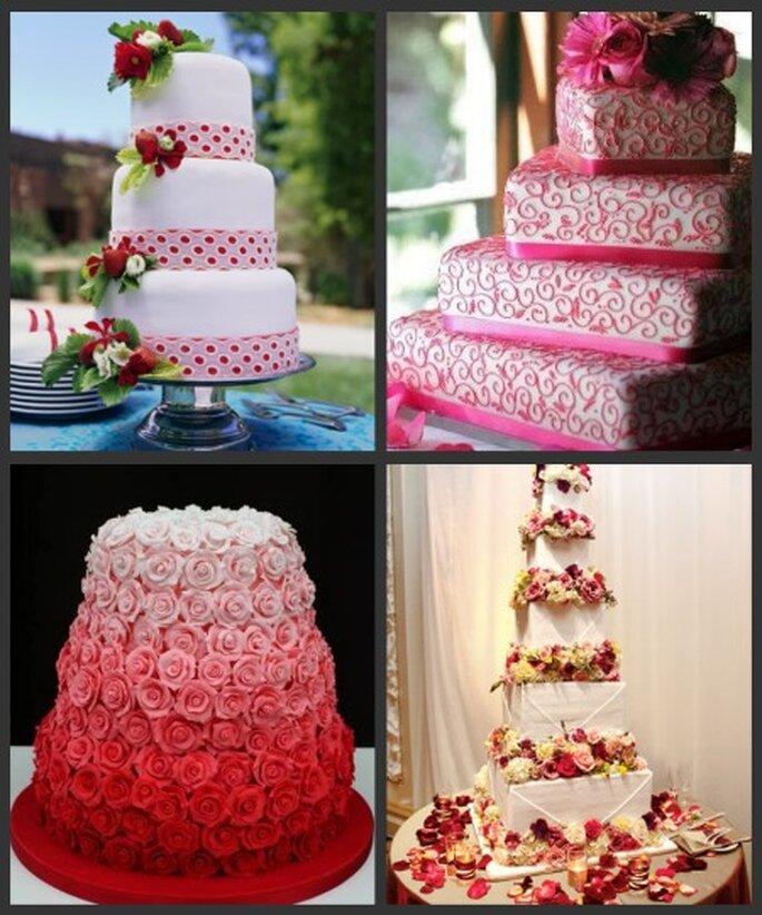 Torta de bodas de color