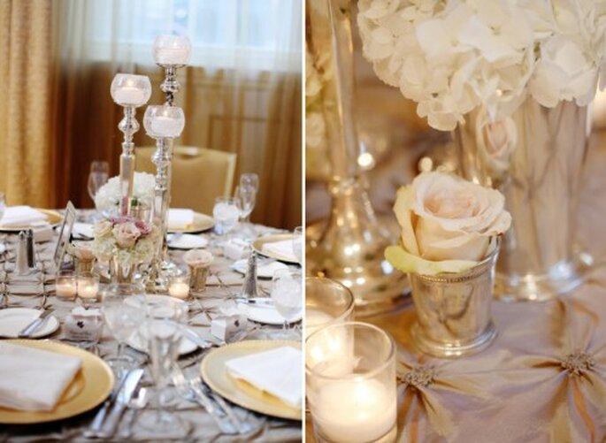 Decoración de boda en rosa pálido. Fotografía  Jenny Lynne