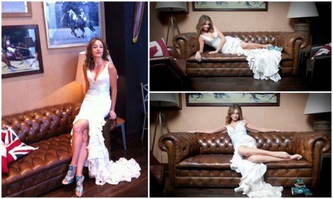 Sesión  de fotos para la cabecera del blog. Vestido de novia de Pepe Fernández, Sevillanía.