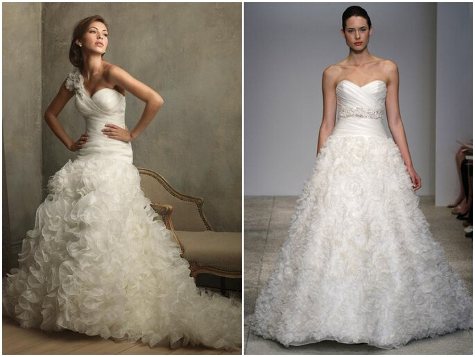 Left: Allure Bridals Right: Kenneth Pool
