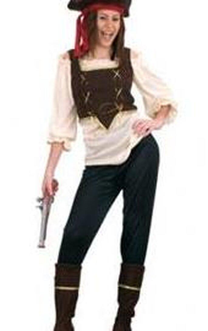 ¡Un lindo disfraz de pirata!
