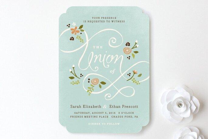 Diseños de ensueño para invitaciones de boda - Foto Minted