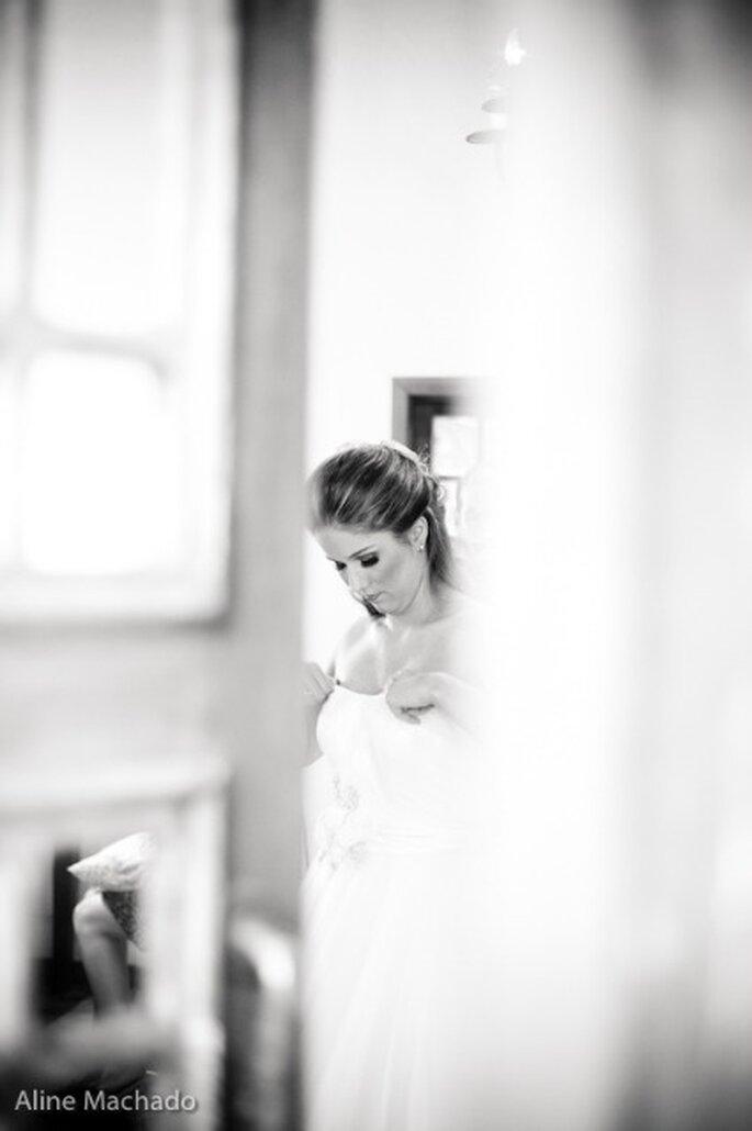 Maquillage d'automne : la mariée doit sublimer son bronzage - Photo : Aline Machado
