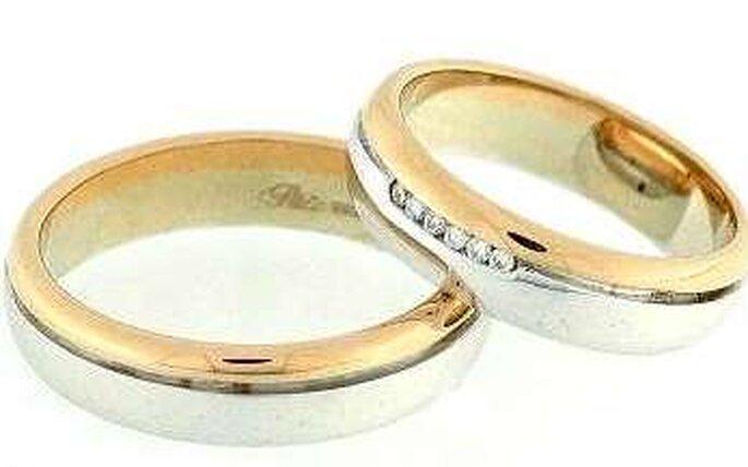 Fedi Polello, Oro18k, platino e diamanti, altezza 5mm, incisione ...