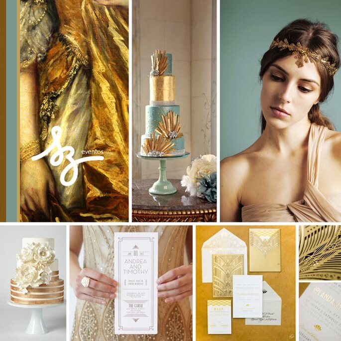 Decoración de boda en color dorado - Fotos J'Adore Love, Clary Pfeiffer Photography, Amanda Dumouchelle Photography - Diseño de Raisa Torres para SZ Eventos