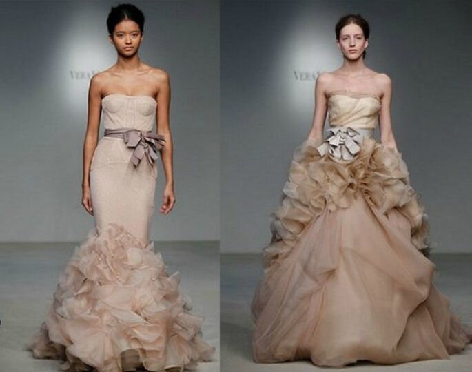Due modelli color nude della Bridal Collection Vera Wang 2012