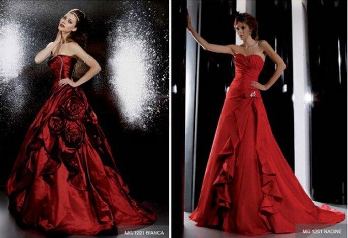 Il rosso è sempre uno dei colori più presenti nella Collezione Gritti Spose. Abiti sensuali e mai banali, come quelli che vi proponiamo qui. Gritti Spose Collezione 2012