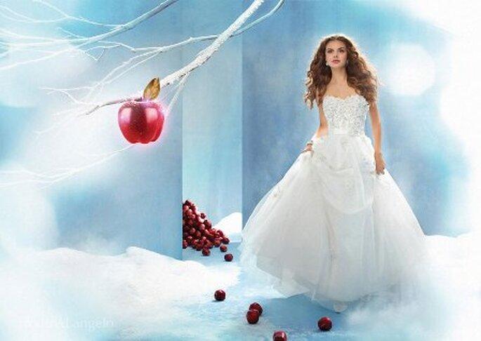 Modelo de novia Blancanieves