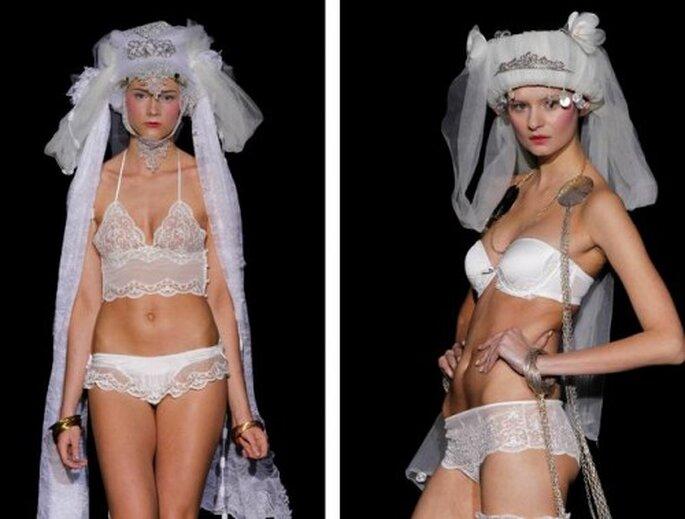 Lencería para novia. Fotos del sitio de Emperatriz.