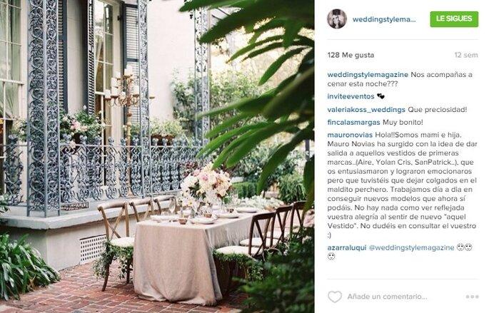 Imagen vía Instagram Wedding Style