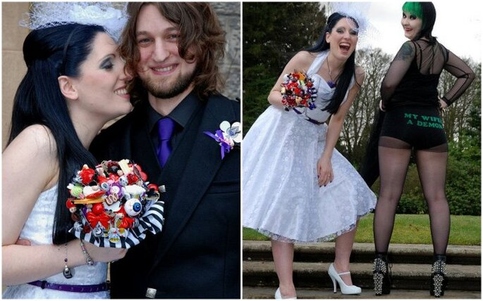 Bouquet de mariée version Halloween. Photos: www.etsy.com