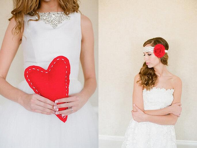 Accesorios para novias en rojo. Foto de Alea Lovely.