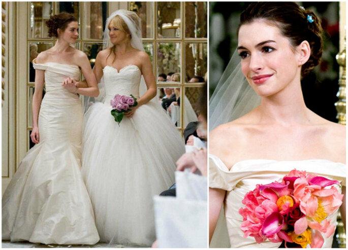 Anne Hathaway y su vestido de Vera Wang, en 'Guerra de novias'