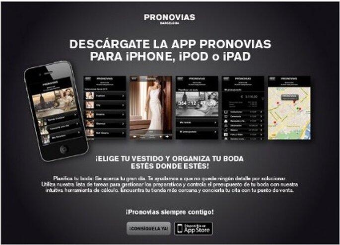Nueva aplicación de Pronovias para tu iPhone y IPAD